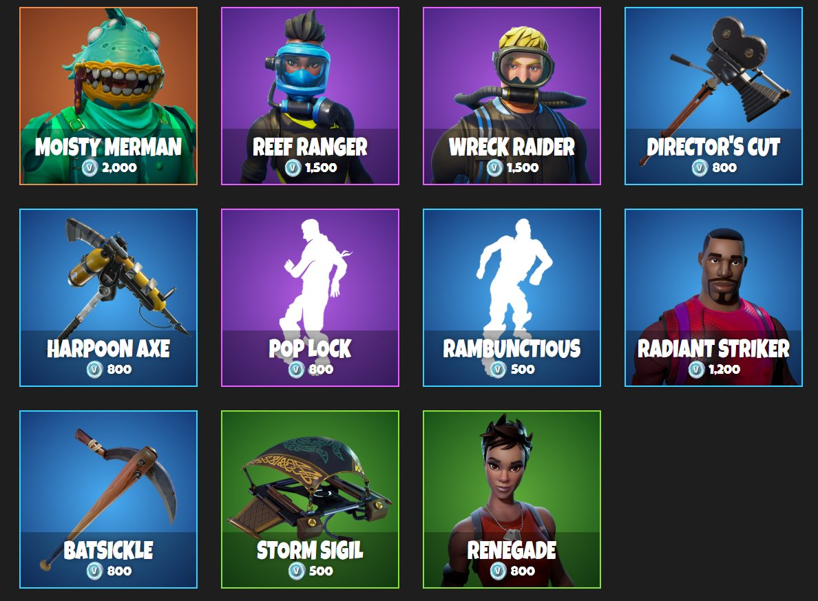 renegade skin fortnite daily item shop - the fortnite item shop right now