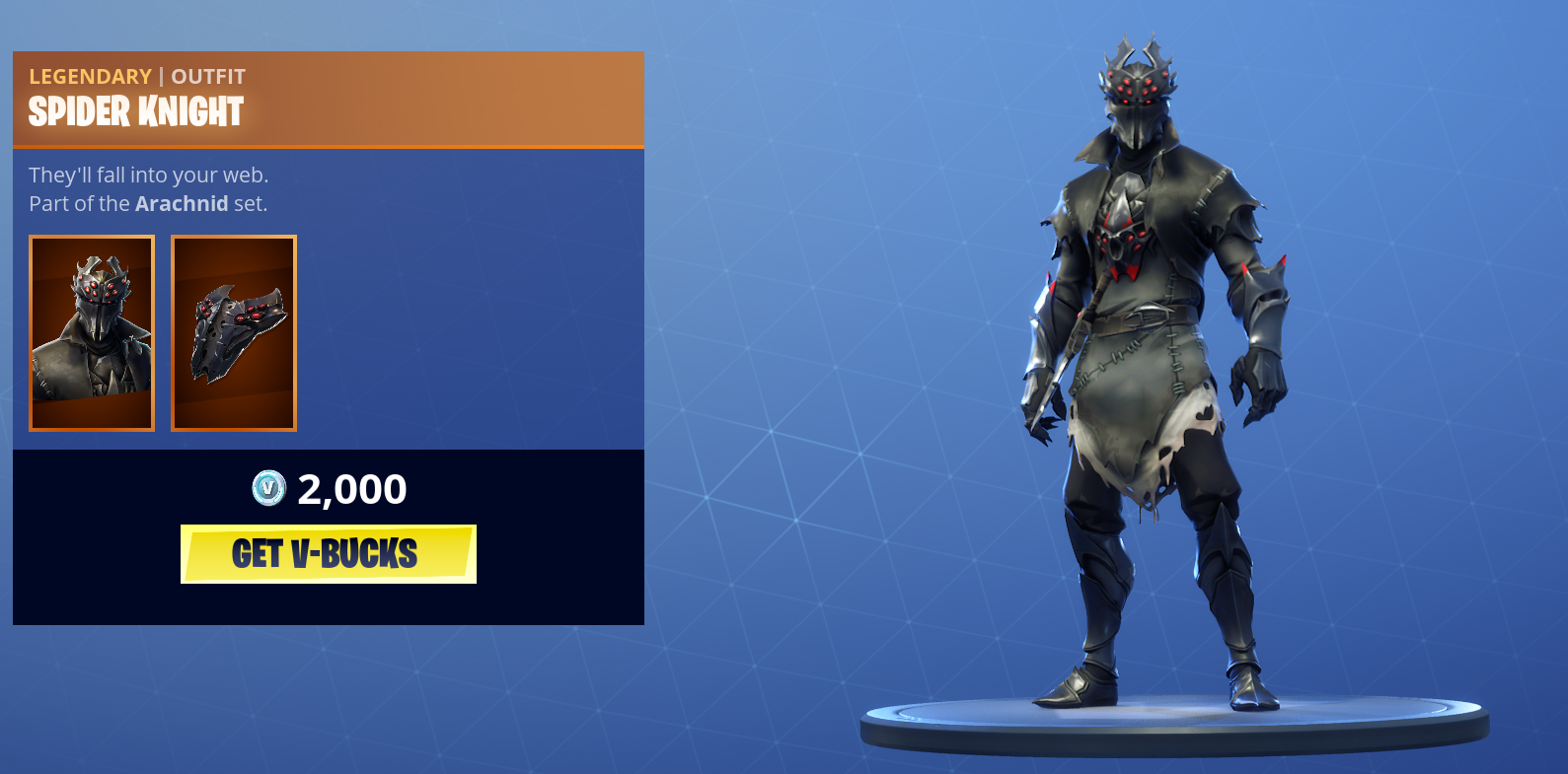 New Arachnid Outfits and Gear Arrive in Fortnite Item Shop