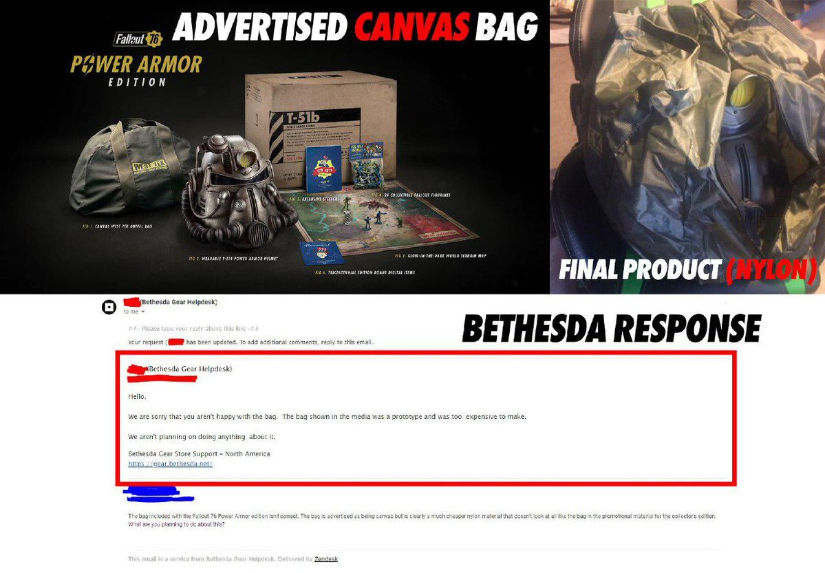Bethesda Compensates Fallout 76 Bag Customers With 500 Atoms