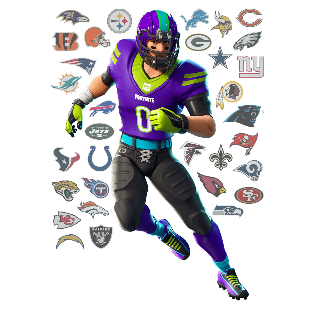 Fortnite NFL Football Skins, Glider, Pickaxes and Emotes
