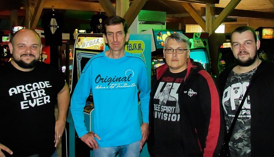 Martin Kolar (pictured center-right) has been in close competition with Petr Prokop for the top spot on the Cosmic Alien boards. Kolar's 757,060 may not have beaten Prokop, but both have promised that better scores are coming.