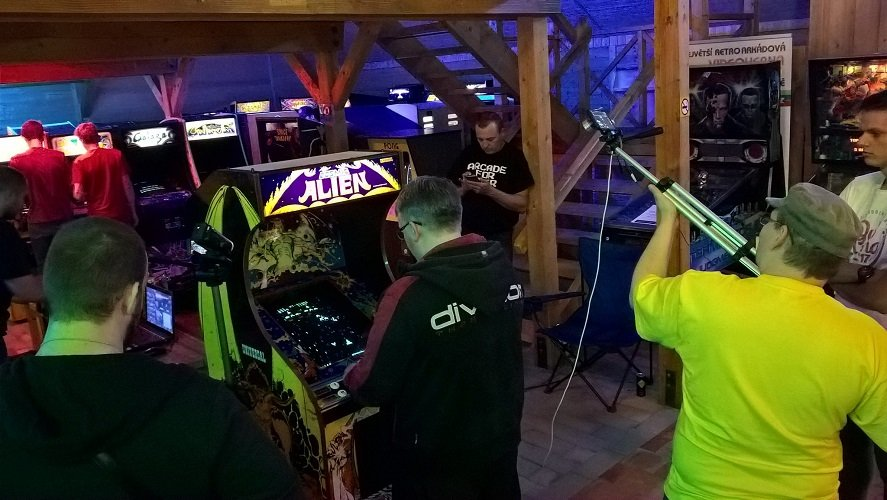 Prokop and Kolar hosted their efforts both in front of live viewers at the ArcadeHry, on recorded camera, and via livestream as they played out for friends and fans.