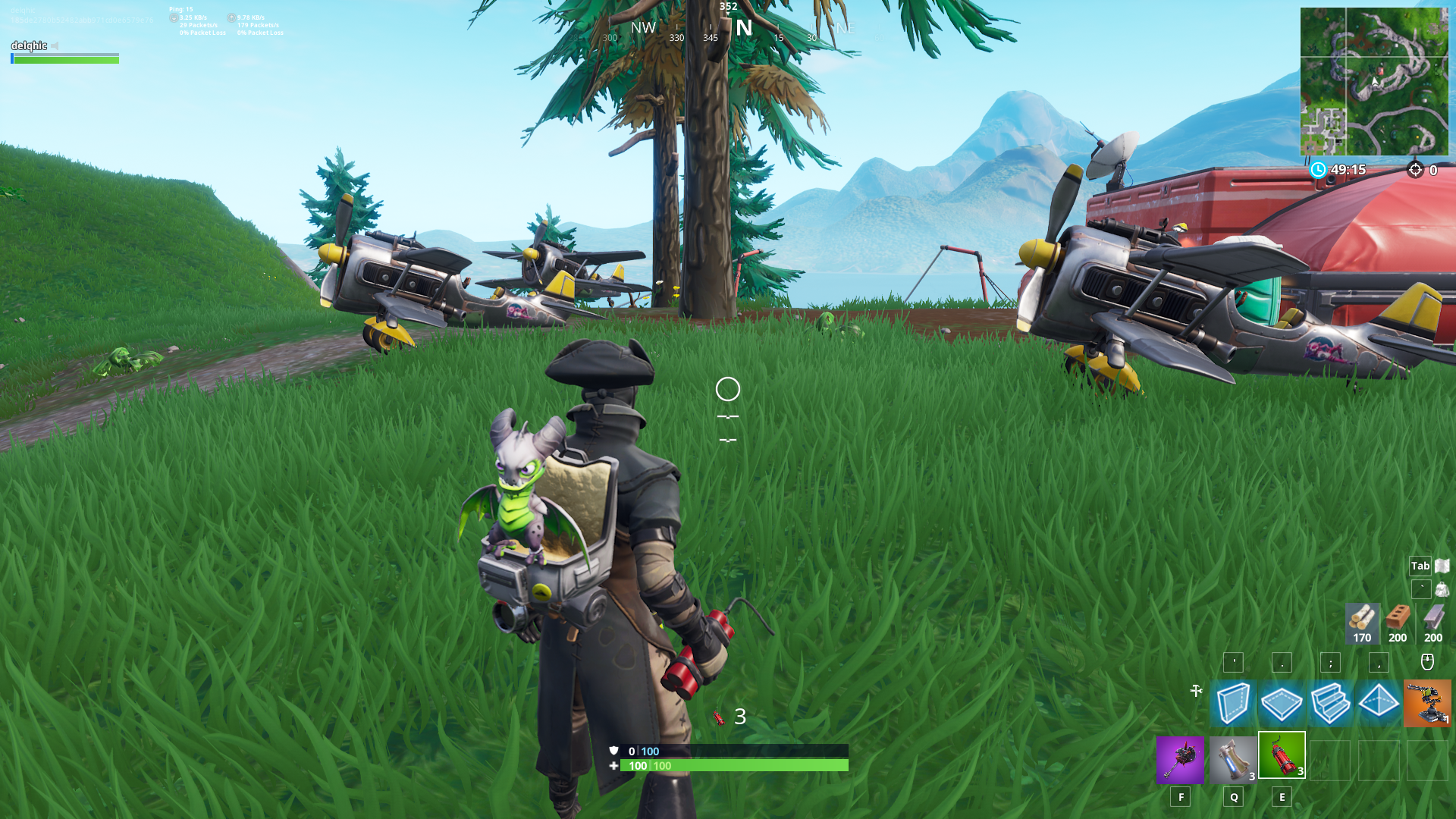 Fortnite Plane Spawn Location - Mountain north-east of Pleasant Park
