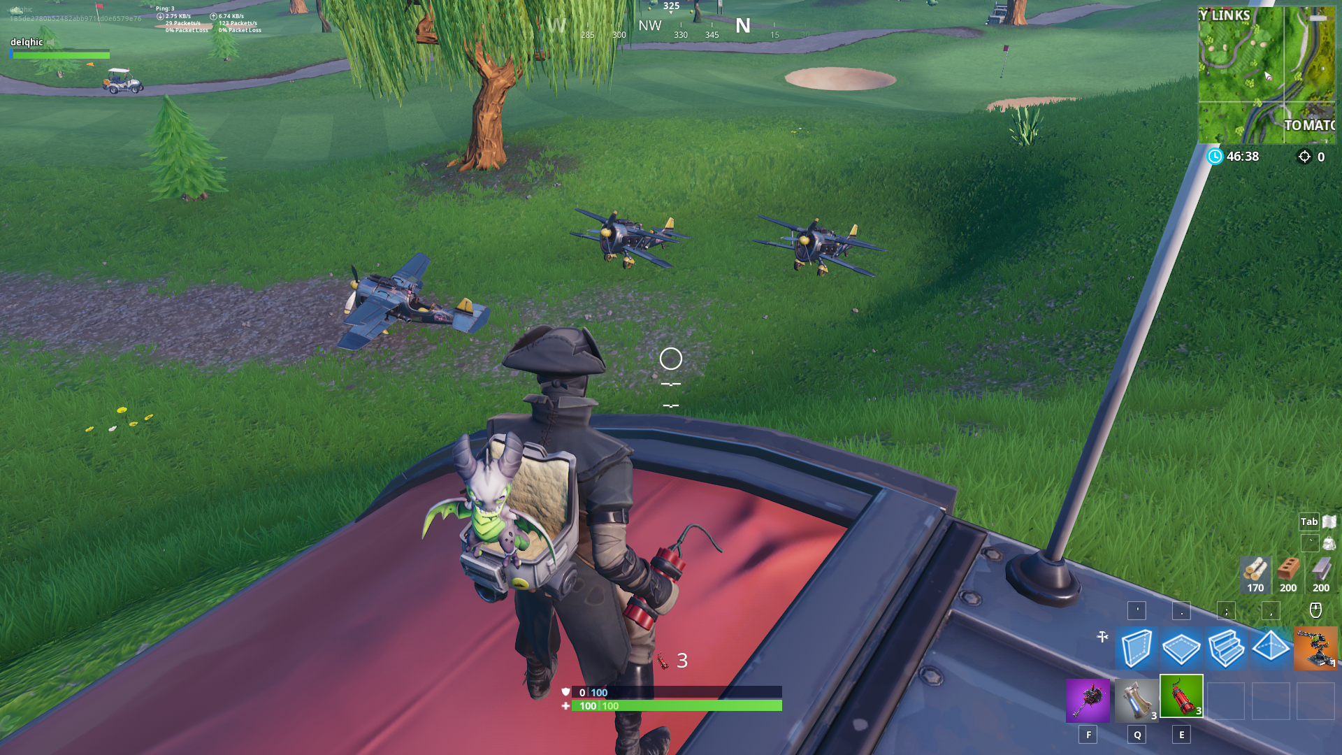 Fortnite Plane Spawn Location - South-east of Lazy Links