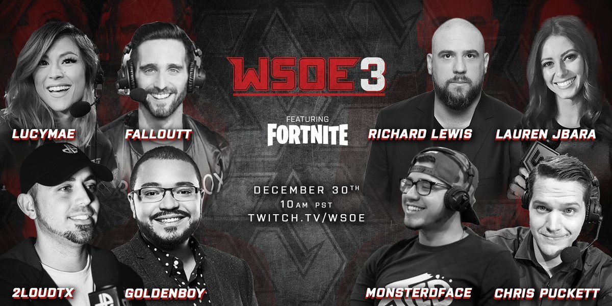WSOE Fortnite $100,000 Tournament Stream, Players and Info