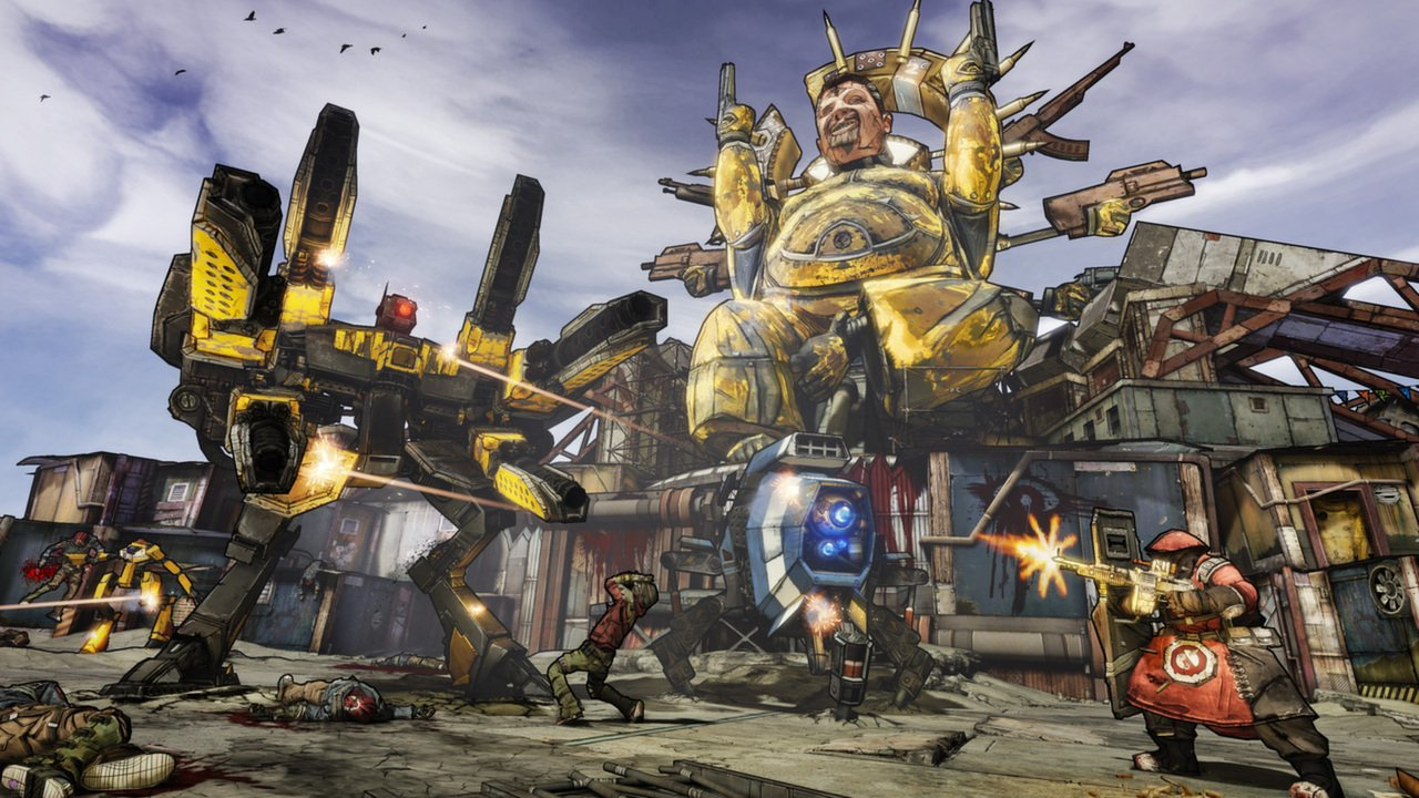 This scene from Borderlands 2 would make just as much sense in the realm of a battle royale.