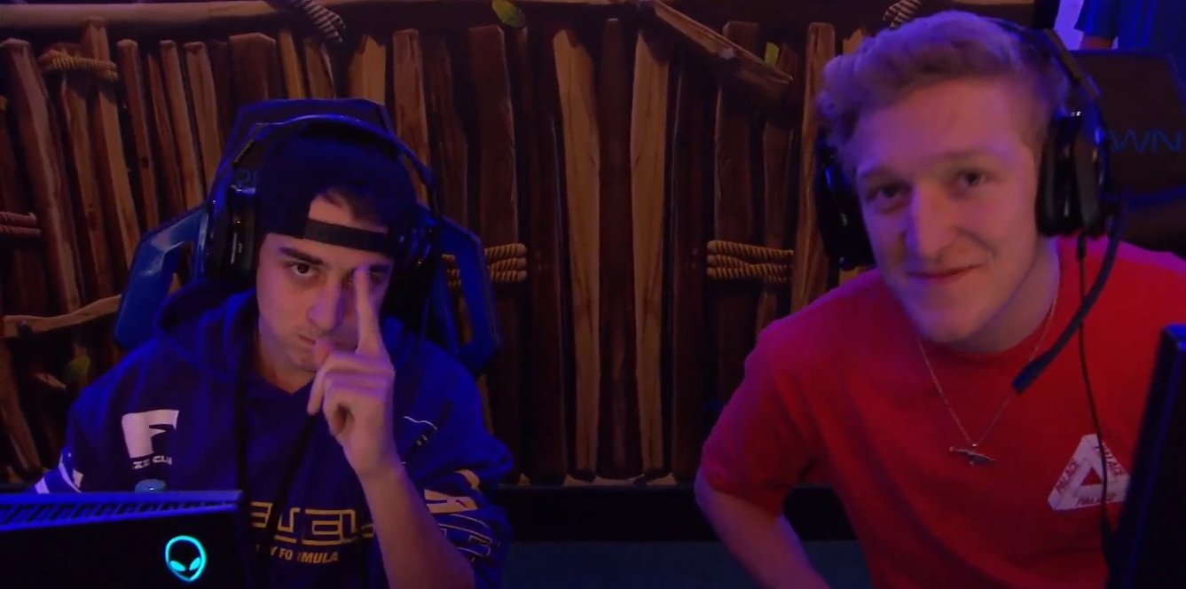 cloak and tfue at summer skirmish - tfue playing fortnite live