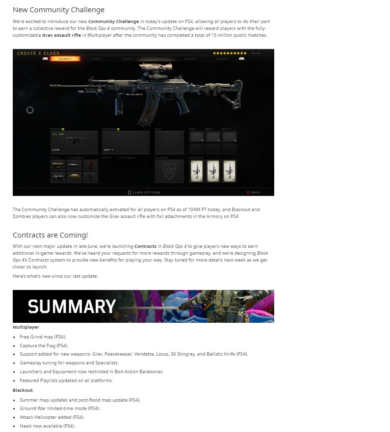Black Ops 4 Days of Summer 2019 Update 1 18 Patch Notes