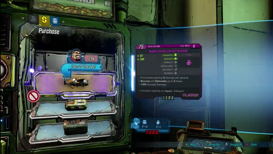 Alongside the regular items, some vending machines in Borderlands 3 will have another tab featuring the weapons your fellow Vault Hunters have sold.