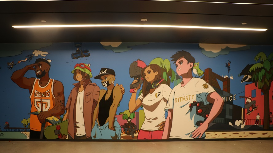 This mural on one of the walls at the LA Gen.G complex is just a touch of the personality that is present throughout every nook and cranny of it. [Image by Gen.G]