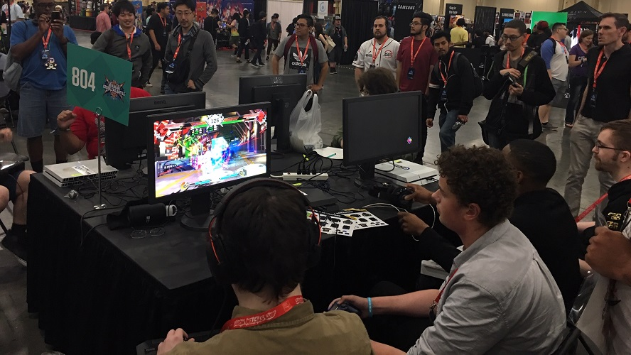 If you were playing on any of the pool setups at EVO 2019 or at a lot of the booths, you likely had BenQ ZOWIE to thank in part for the multitude of monitors on hand. [Image by TJ Denzer]