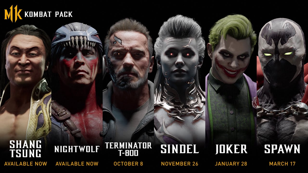 Mortal Kombat 11 Joker and Terminator T-800 leak