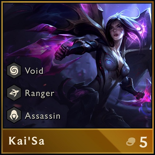 Kai'Sa is one of only a few characters in Teamfight Tactics that is dual-class.