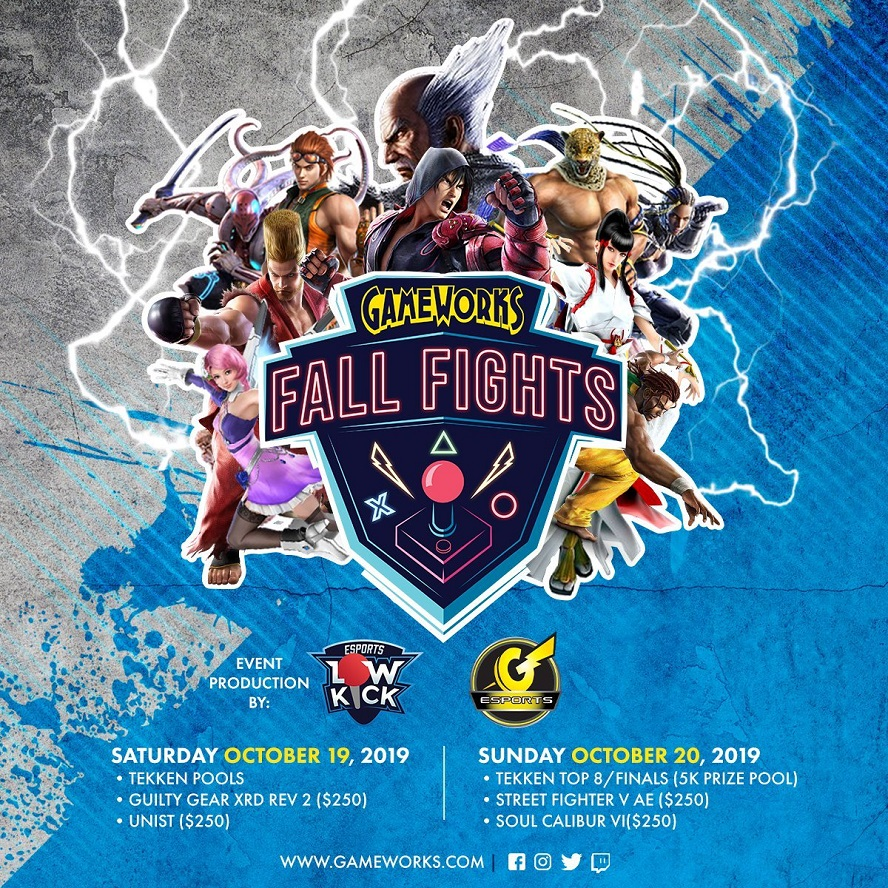 Tekken 7 is the marquee of GameWorks' Fall Fights, but there are plenty of other fighting games featured in the competition as well.