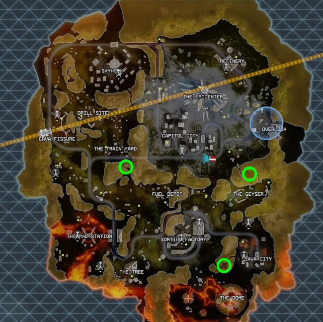 There are three noticeable loot vault doors on the marked locations of the map so far, each with a countdown for October 9. [Image by EA]