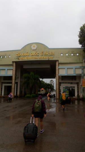 Crossing the border at Ha Tien