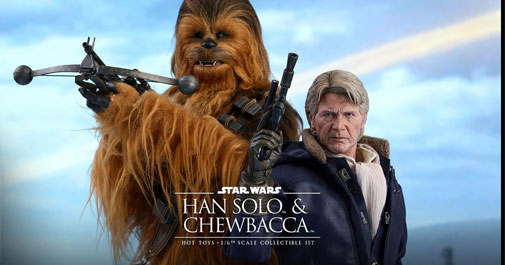 Han and Chewie Force Awakens