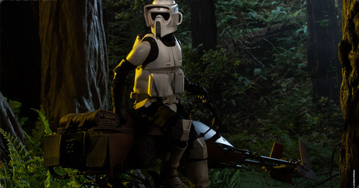 Speederbike and Scout Trooper