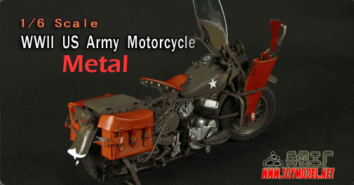 Toy Model Metal US Army Motorcycle
