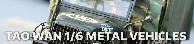 TaoWan 1/6 scale metal vehicles