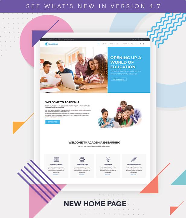Academia - Education WordPress Theme - 1