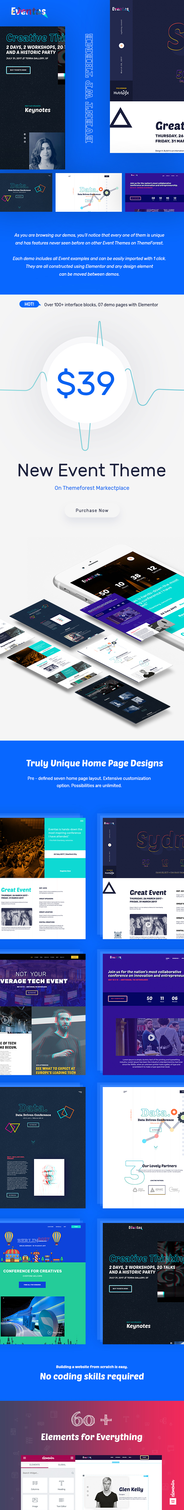 Image 1  Download Eventas – Event WordPress Theme nulled P 1