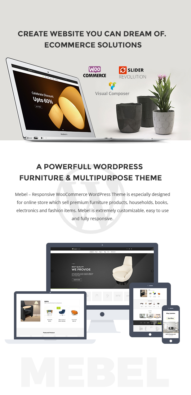 Mebel - Responsive Furniture & Book Store WordPress Theme
