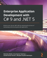 Enterprise  Application  Development with  C# 9 and .NET 5 Image