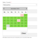 Color Coded Delivery Calendar