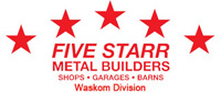 Website for Five Starr Metal Builders