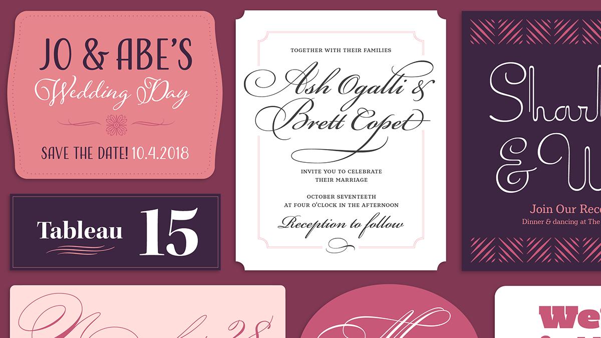 Wedding Charmers | Typekit