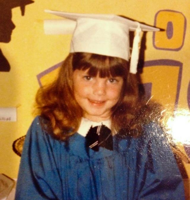 Lauren Martin at kindergarten graduation.