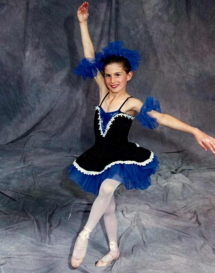 Laura as a young ballerina. Laura Brown