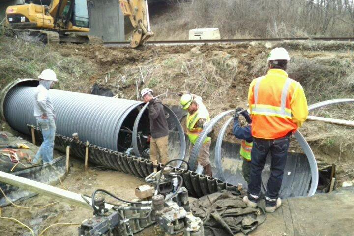 Pipe Culvert Lining : Spiral lining solution for indiana culverts underground
