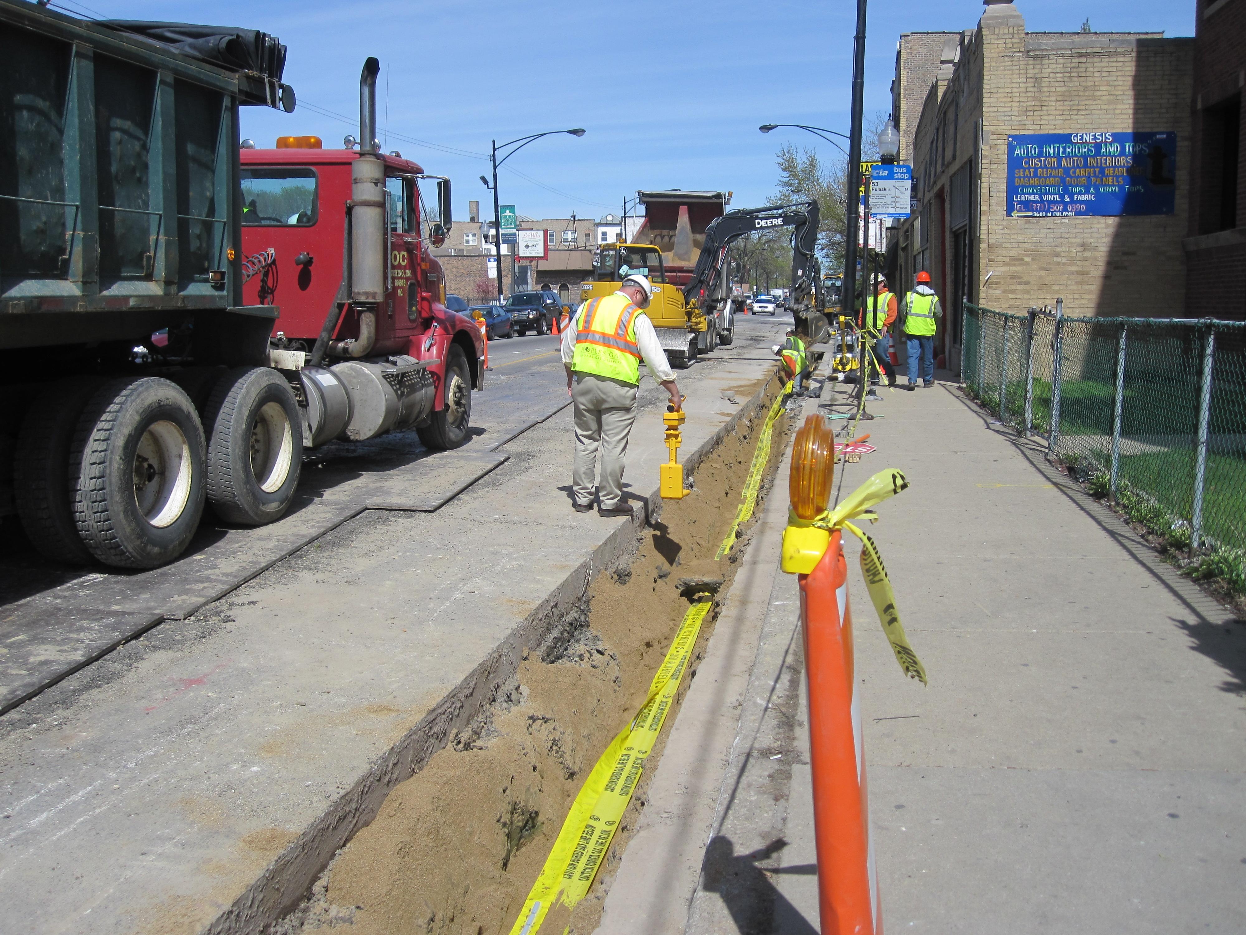 Plastic Pipe Locator : M systems locates plastic pipes underground construction