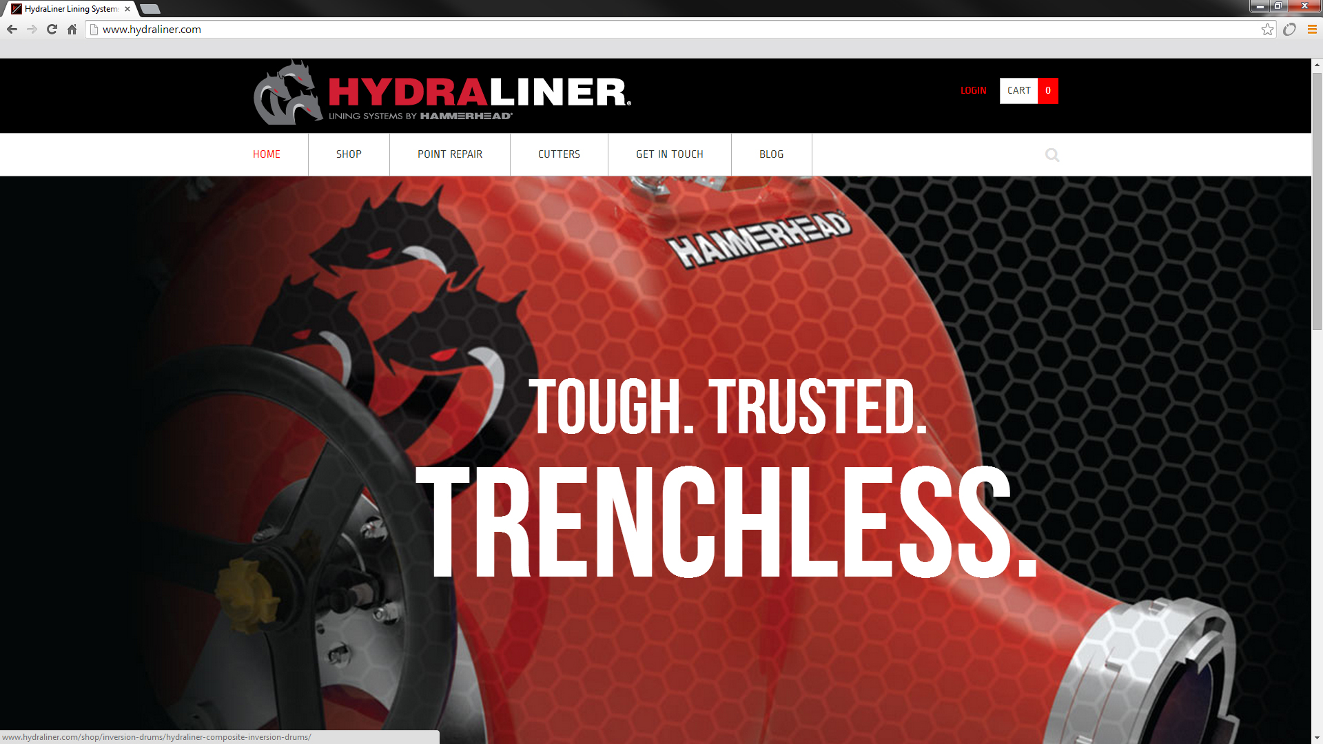 Epoxy Pipe Lining Houston : Hammerhead unveils new online store for cipp products