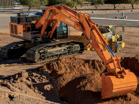 The Hitachi ZX470LC-6 excavator
