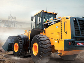 The HL780-9A wheel loader is part of Hyundai's new 9A series product line.