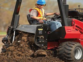Toro rubber tire trencher