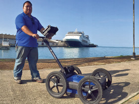 Underground utility locating using GPR by Hawaii Geophysical Services