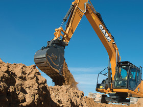 The CX210D excavator from CASE provide operational gains including a 12 percent faster cycle time, improved responsiveness and multifunctional control,