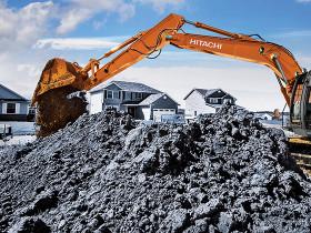 Hitachi utility class excavator