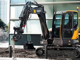 Volvo short swing radius compact excavators