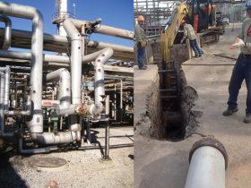 excavation on sewer main