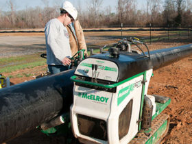McElroy trac star medium diameter pipe
