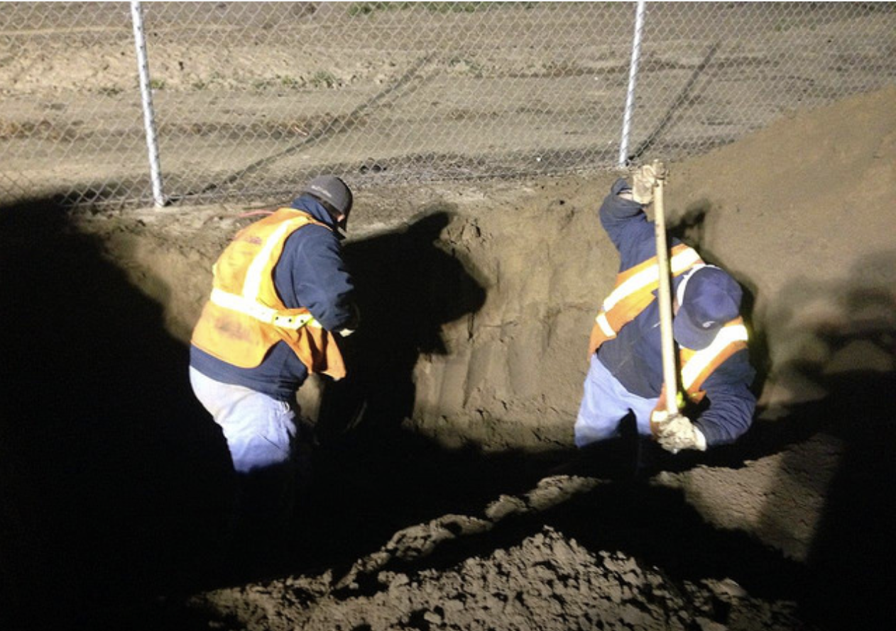 Dig in photo for Gold Shovel Standard release.  Photo courtesy of SoCalGas.