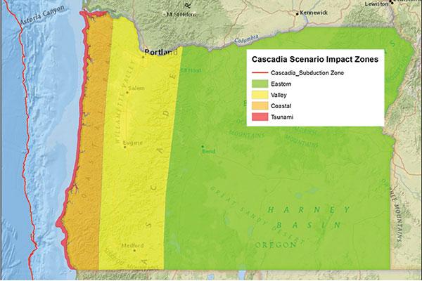 Oregon earthquake zone