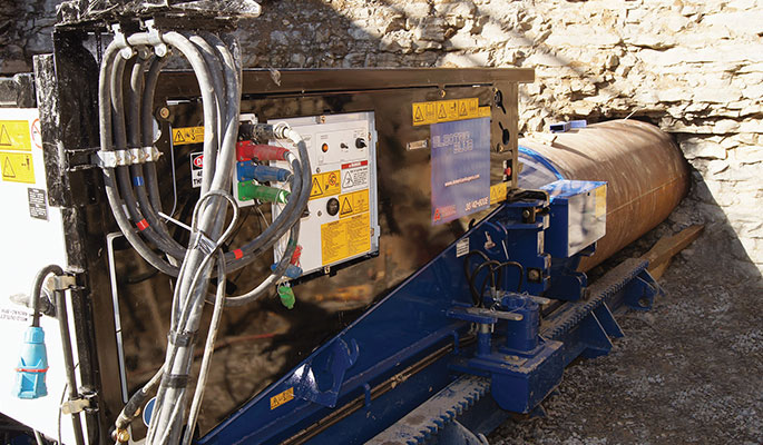 American Augers electric boring machine