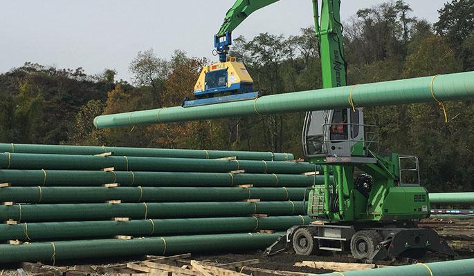 Vacuum pipe lift