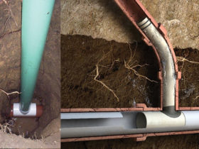 Left: ASTM F3097 Compliant Cleanout; Right: ASTM F2561 Compliant Connection Liner